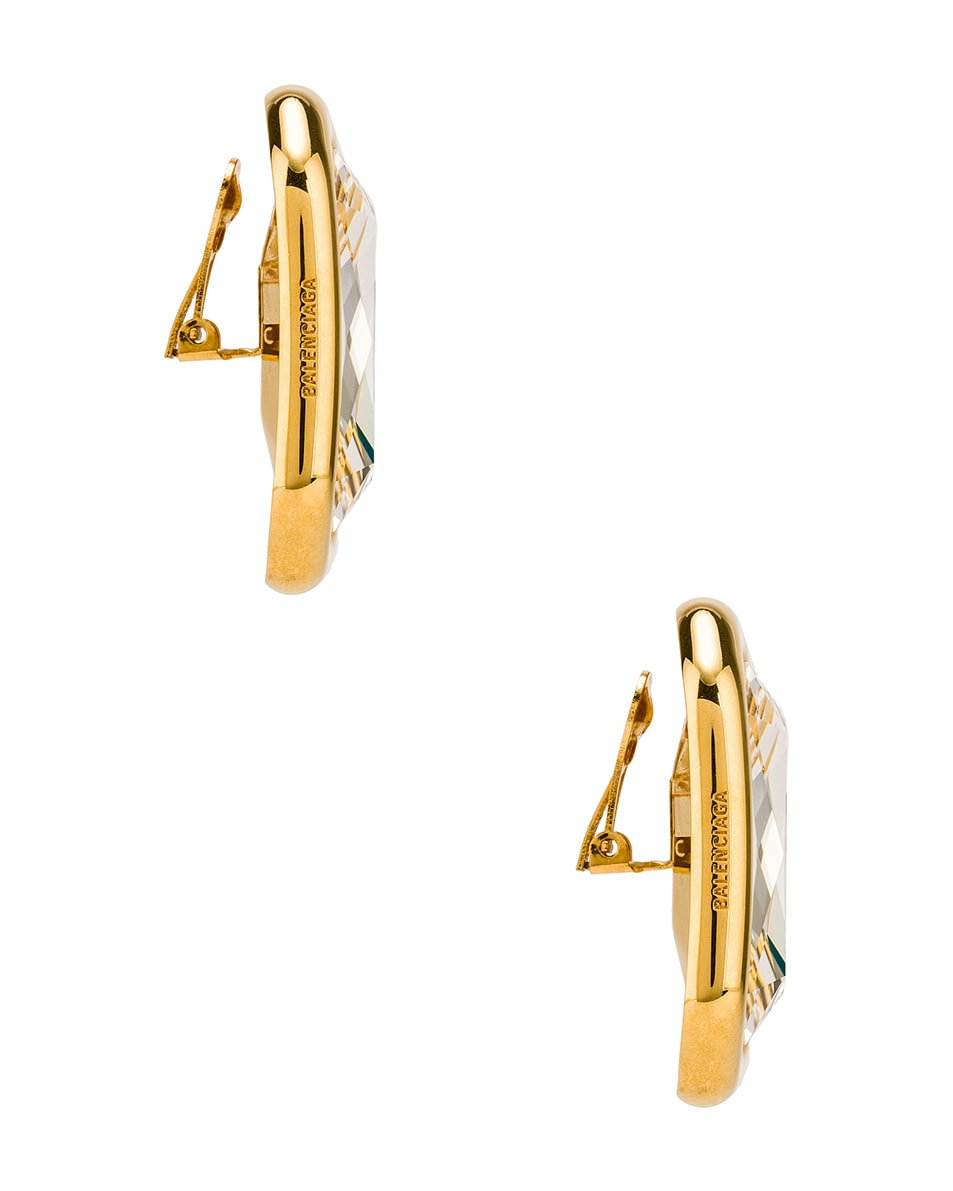 Image 3 of Balenciaga Dallas XL Earrings in Gold