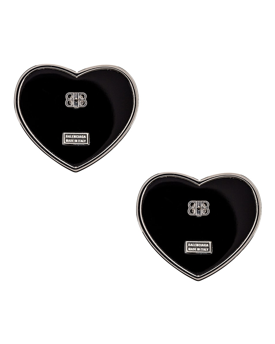 Image 4 of Balenciaga Crush Earrings in Black & Crystal
