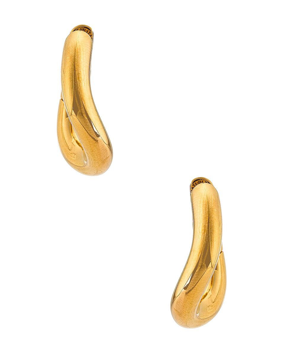 Image 3 of Balenciaga XS Loop Earrings in Shiny Gold