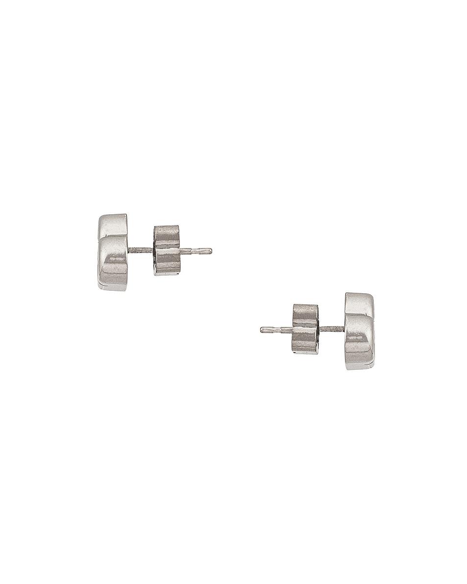 Image 3 of Balenciaga BB Stud XS Earrings in Silver