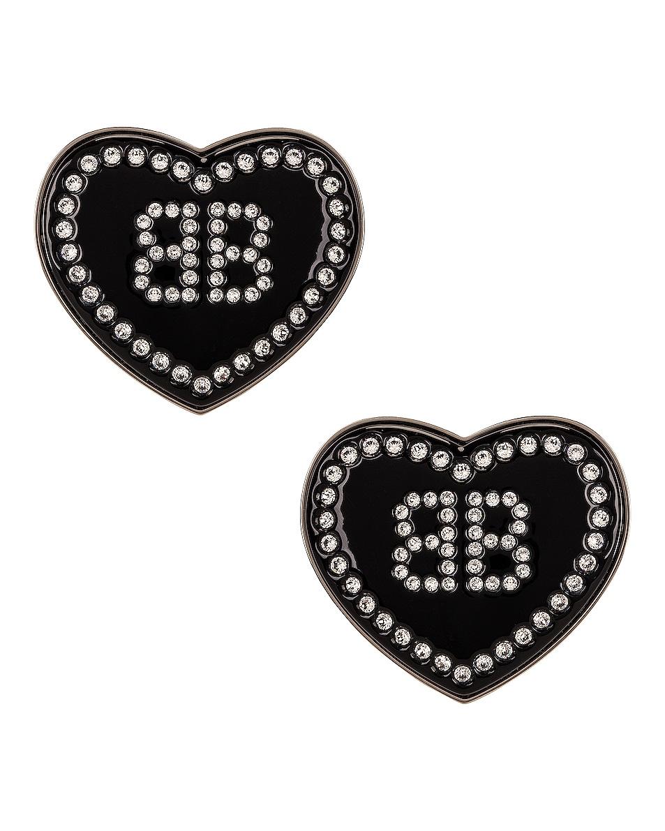 Image 1 of Balenciaga Crush Earrings in Crystal & Silver
