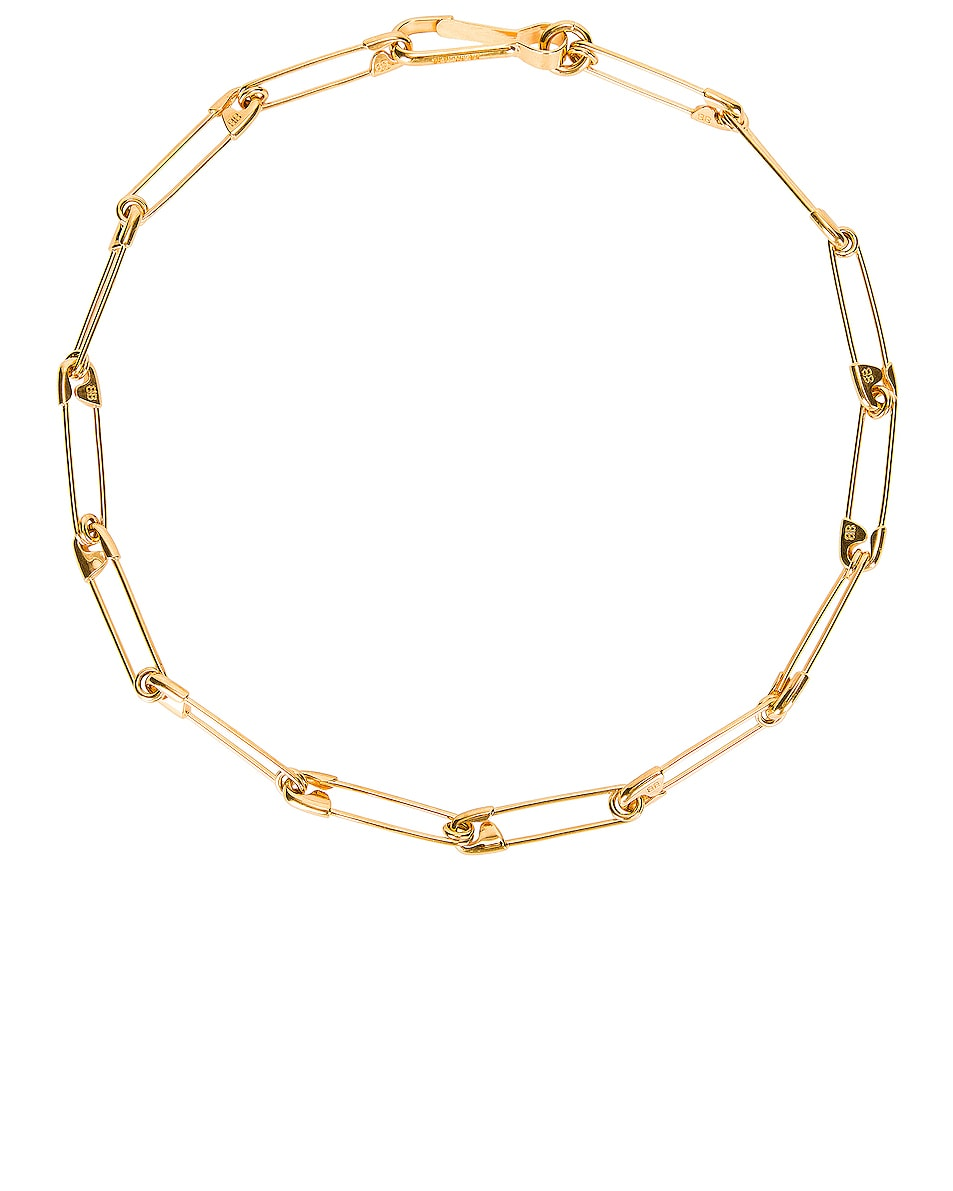 Image 1 of Balenciaga Punk Necklace in Gold