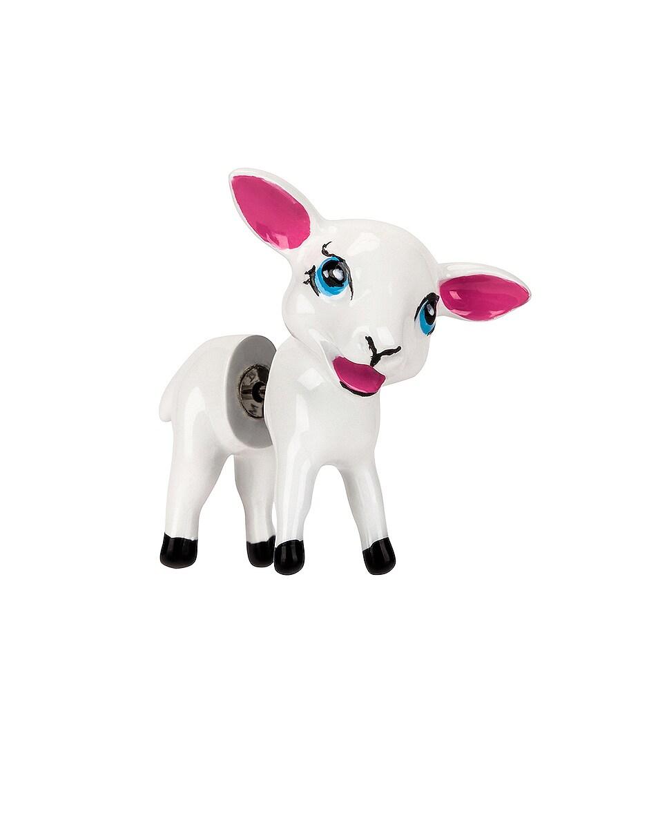 Image 1 of Balenciaga Cutie Lamb Earring in White
