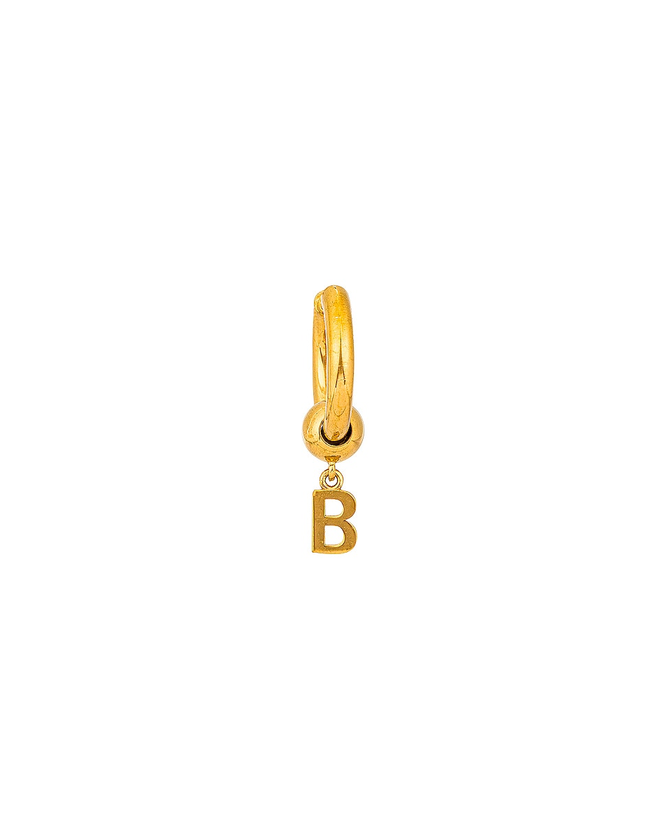 Image 1 of Balenciaga Force Earring in Shiny Gold