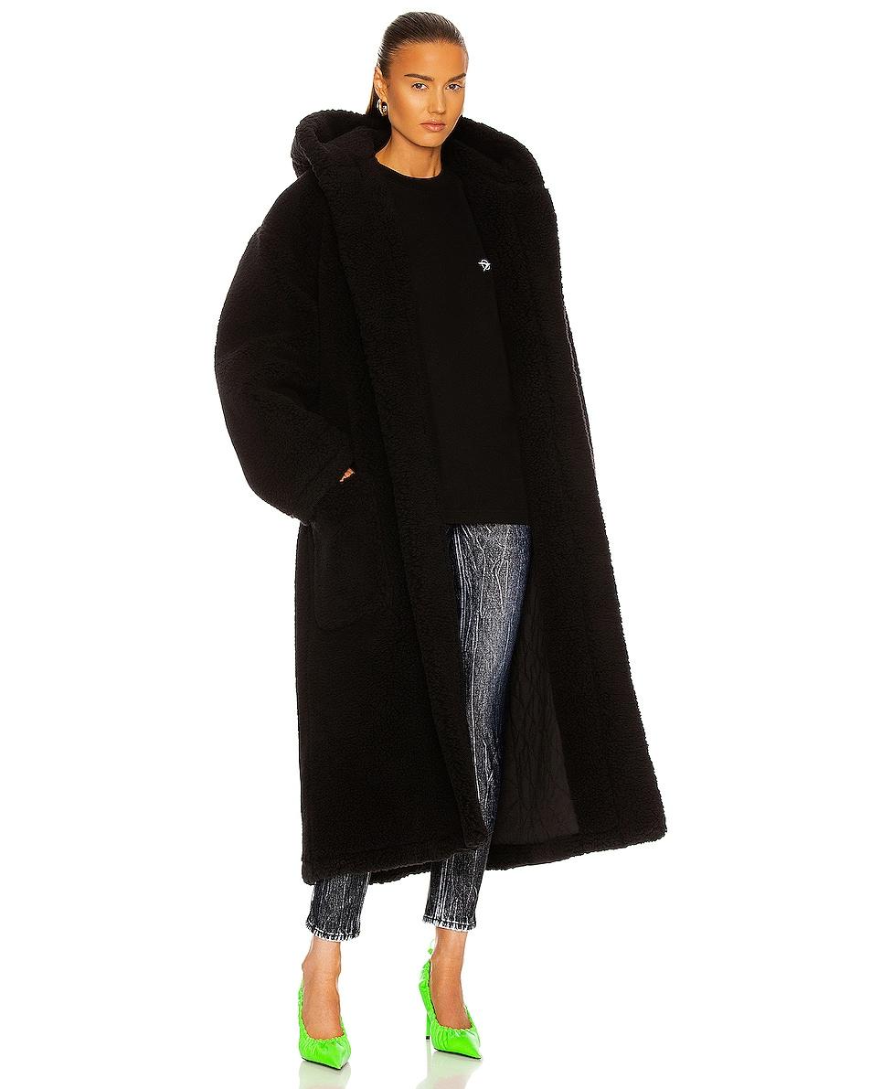 Image 1 of Balenciaga Hooded Bathrobe Jacket in Black