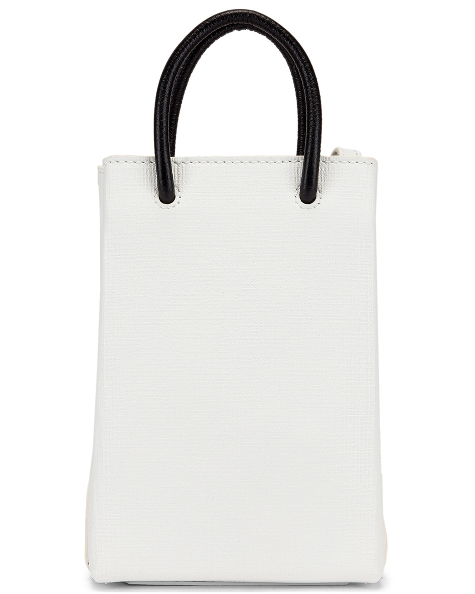 Image 3 of Balenciaga Shopping Phone on Strap Bag in White