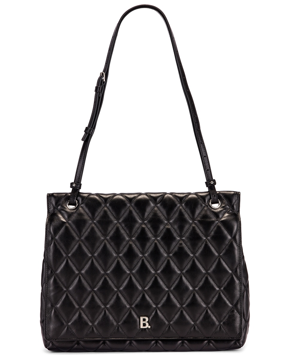 Image 6 of Balenciaga Large B Shoulder Bag in Black