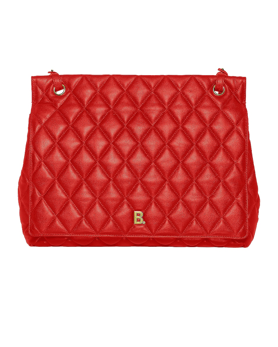 Image 1 of Balenciaga Large B Shoulder Bag in Bright Red