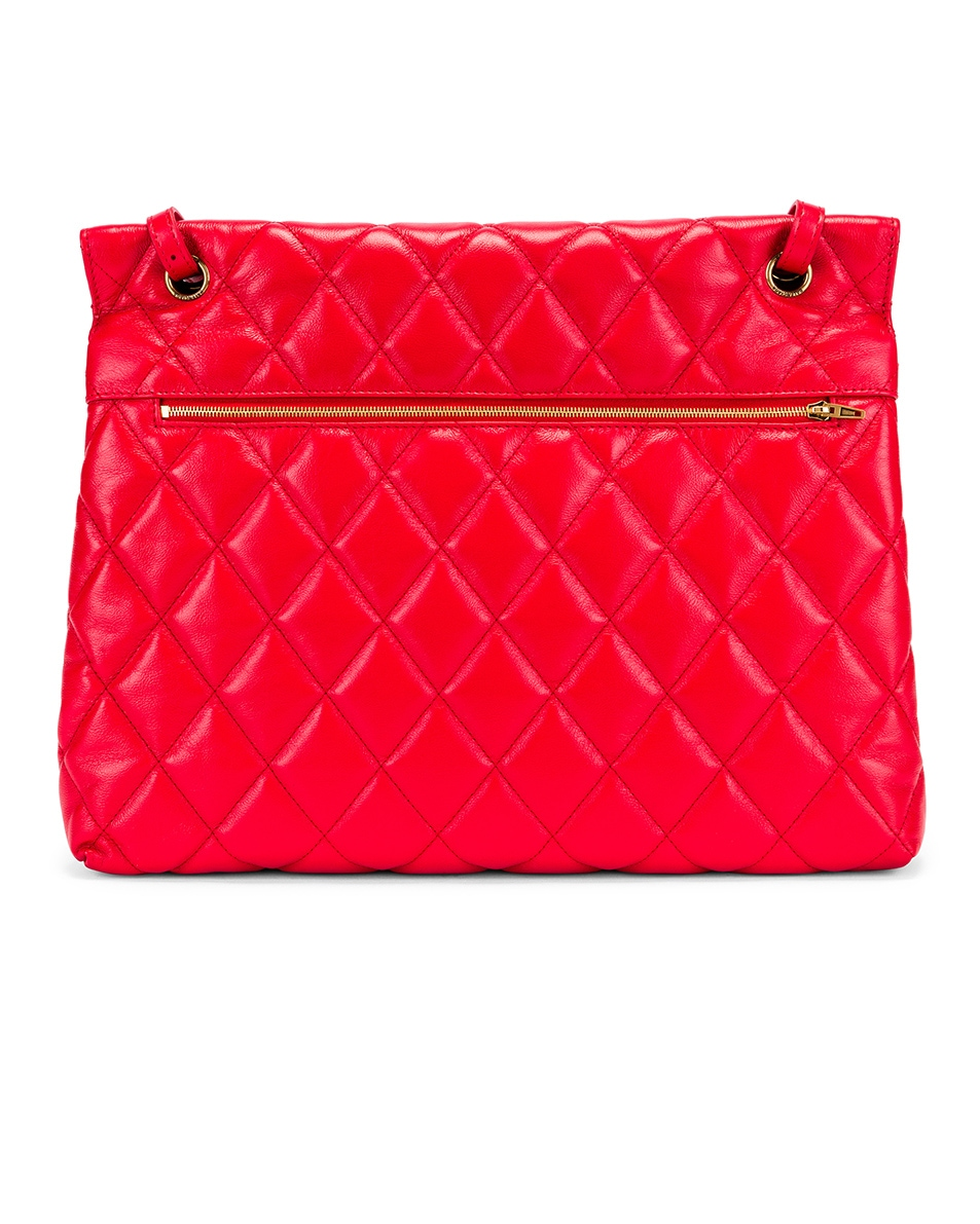 Image 3 of Balenciaga Large B Shoulder Bag in Bright Red