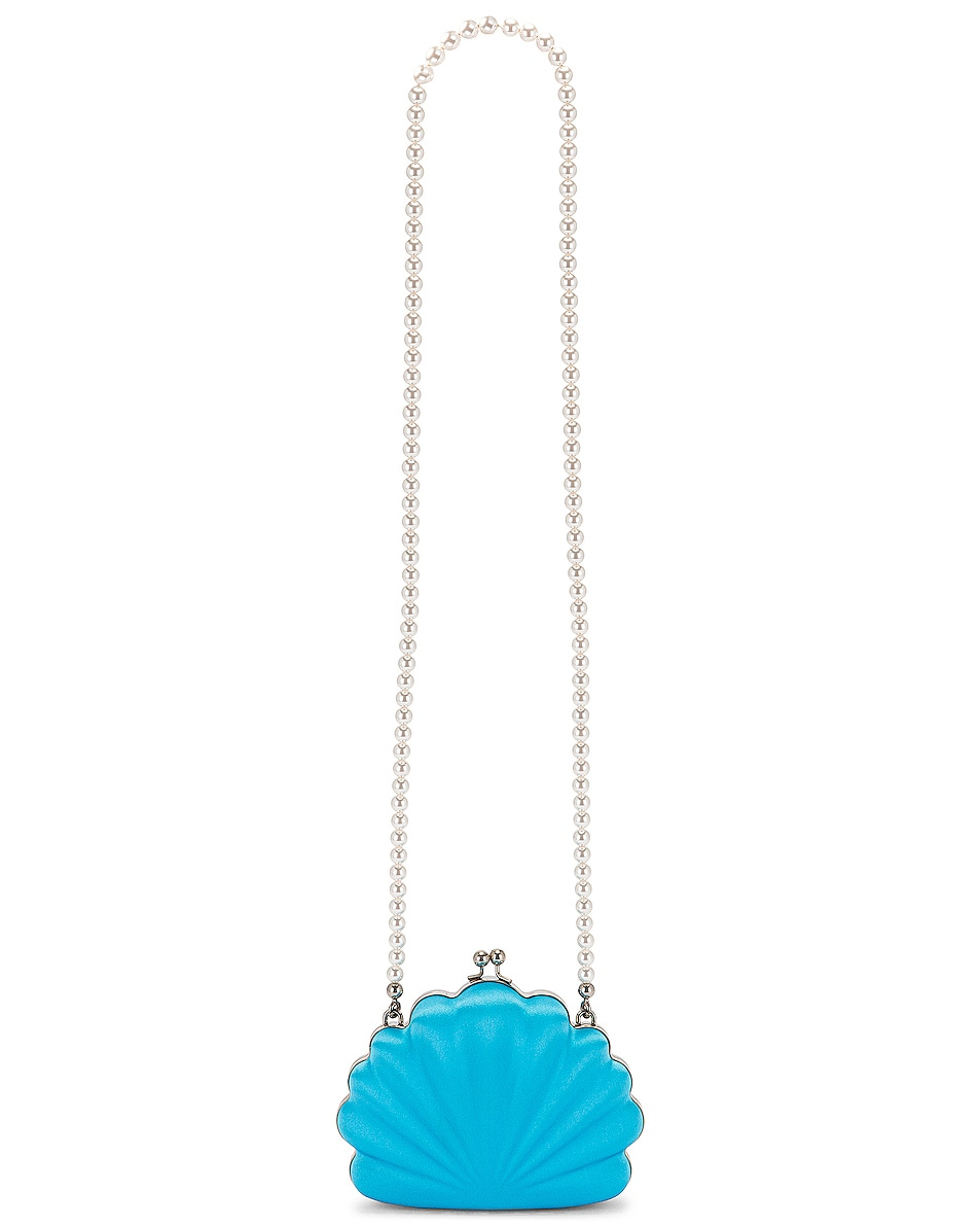 Image 6 of Balenciaga Shell Beads Clutch in Turquoise