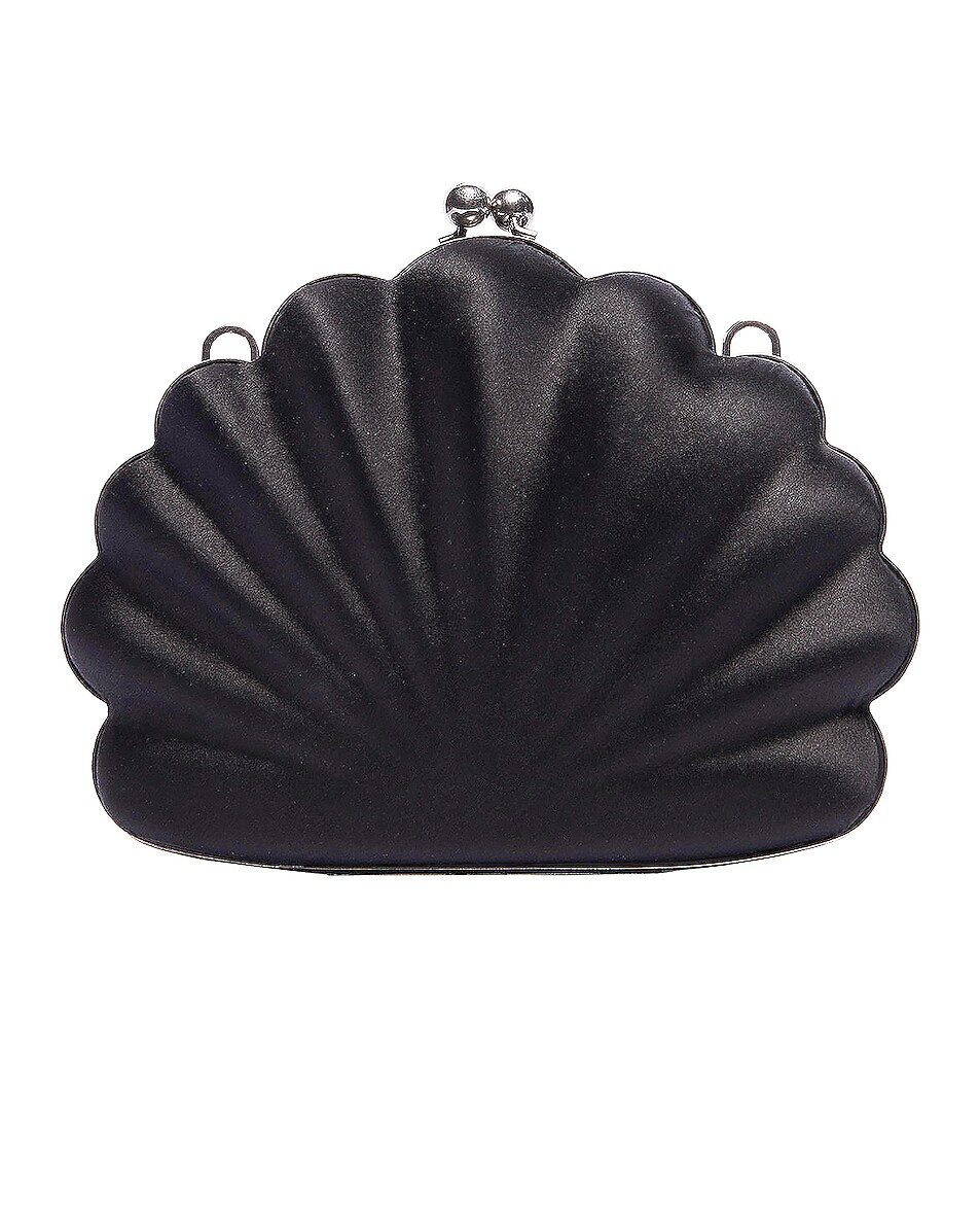 Image 1 of Balenciaga Shell Beads Clutch in Black