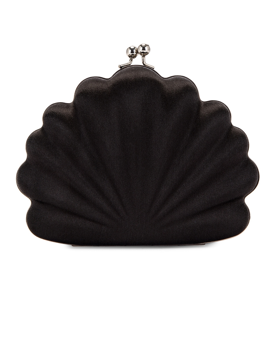Image 2 of Balenciaga Shell Beads Clutch in Black