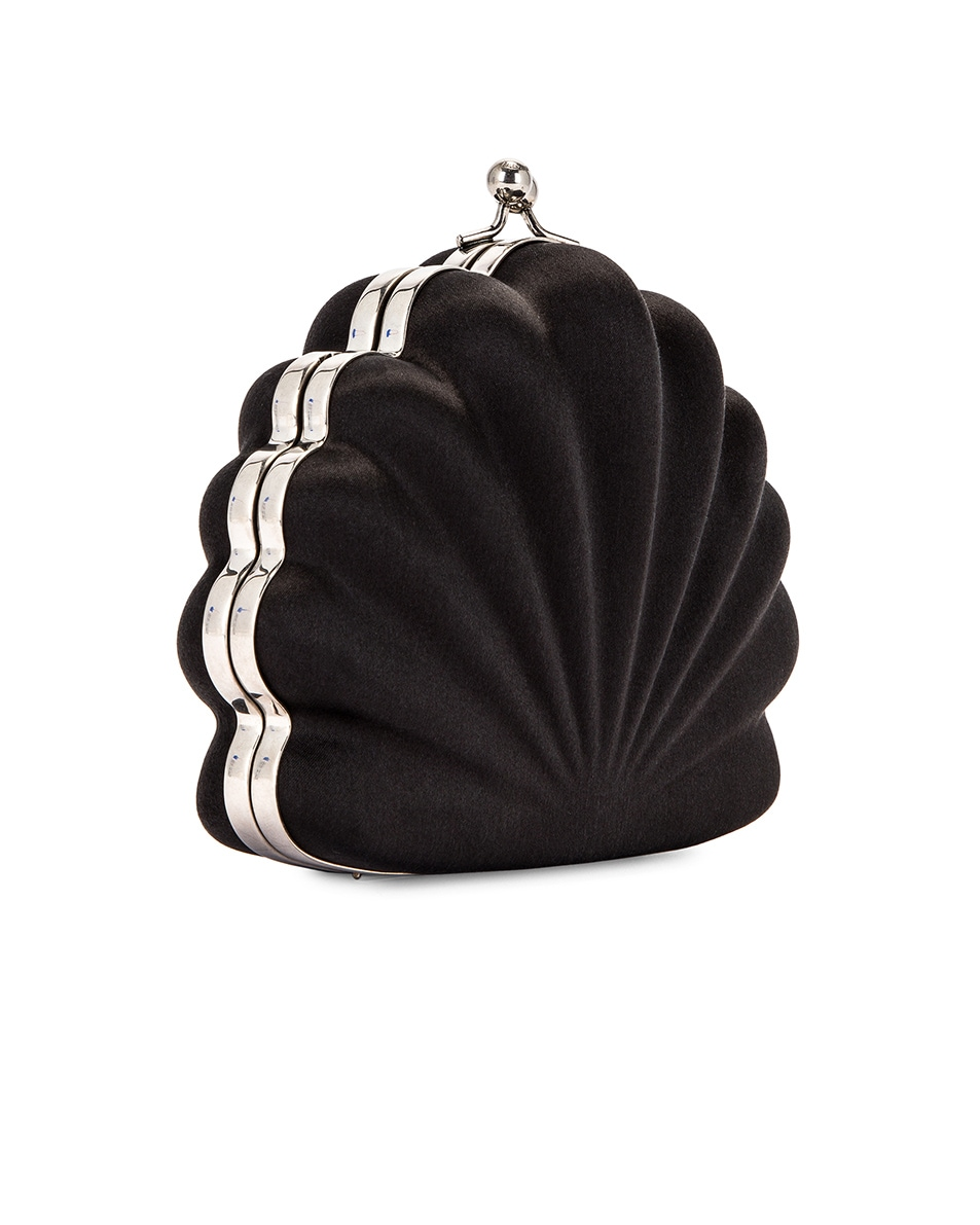 Image 3 of Balenciaga Shell Beads Clutch in Black