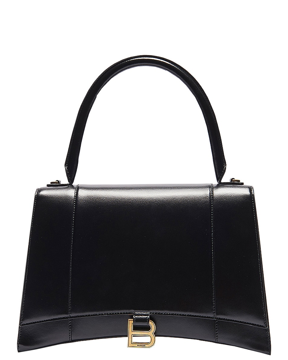 Image 1 of Balenciaga Medium Hourglass Top Handle Bag in Black