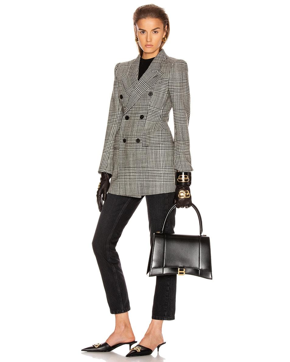 Image 2 of Balenciaga Medium Hourglass Top Handle Bag in Black