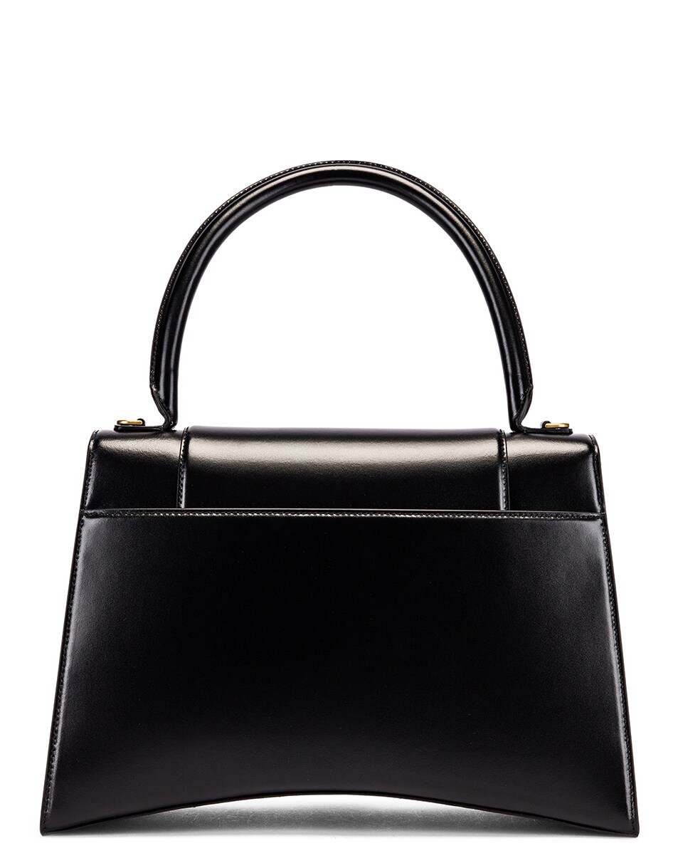 Image 3 of Balenciaga Medium Hourglass Top Handle Bag in Black