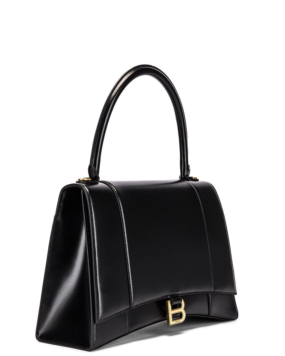 Image 4 of Balenciaga Medium Hourglass Top Handle Bag in Black