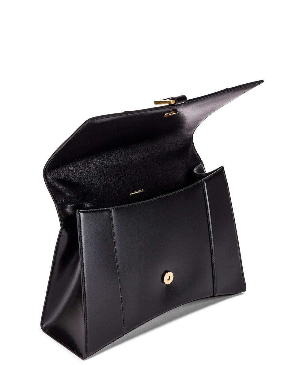 Image 5 of Balenciaga Medium Hourglass Top Handle Bag in Black