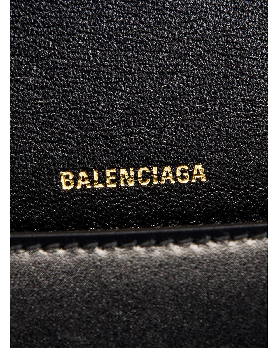 Image 7 of Balenciaga Medium Hourglass Top Handle Bag in Black