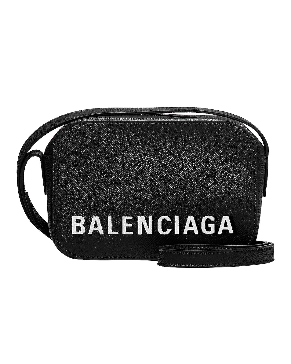 Image 1 of Balenciaga XS Ville Camera Bag in Black & White