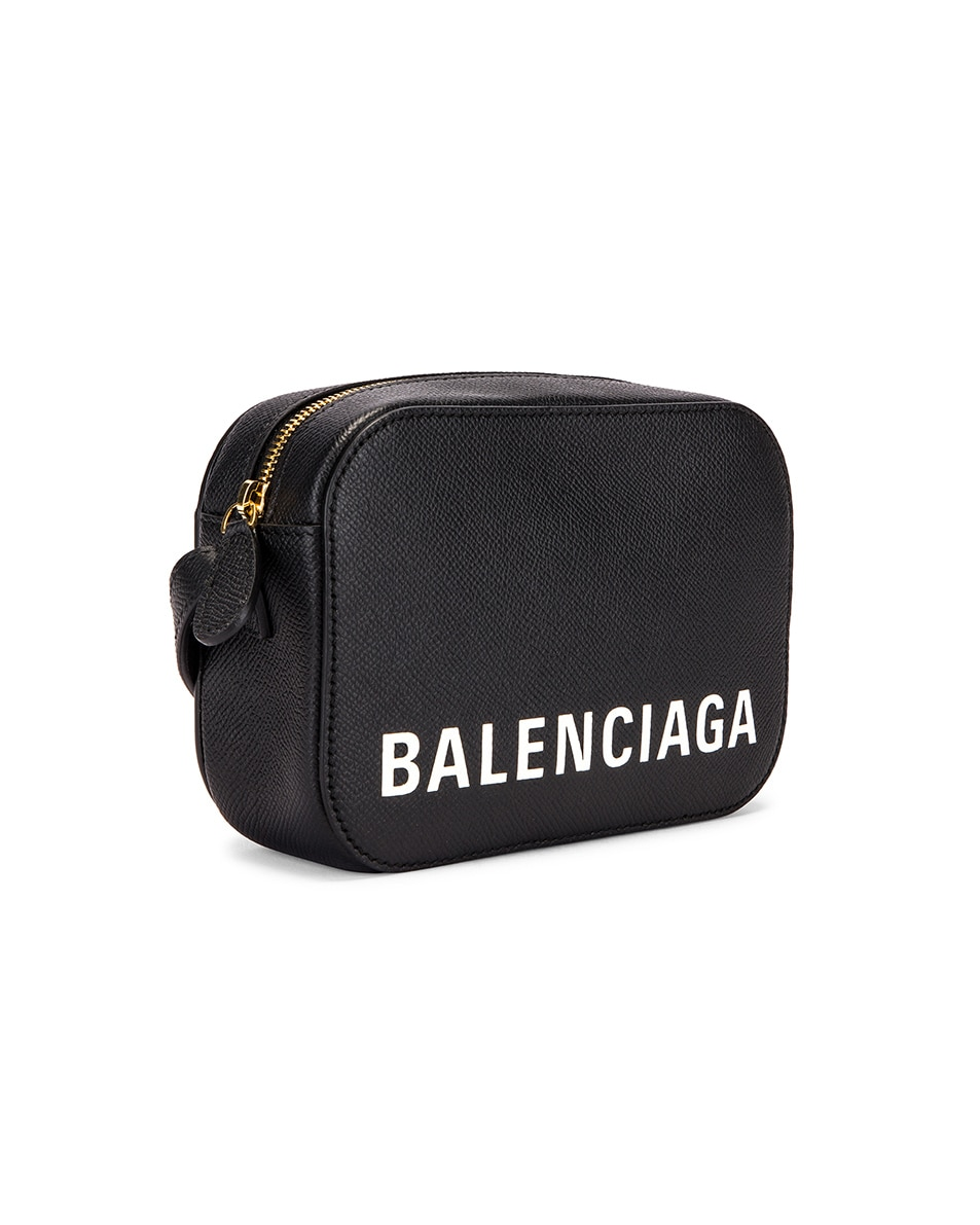 Image 4 of Balenciaga XS Ville Camera Bag in Black & White