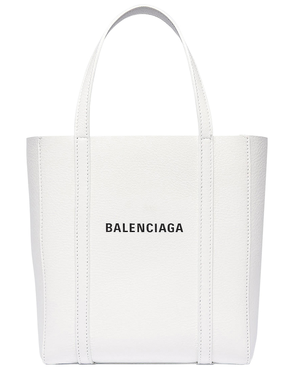 Image 1 of Balenciaga XXS Everyday Tote Bag in White & Black