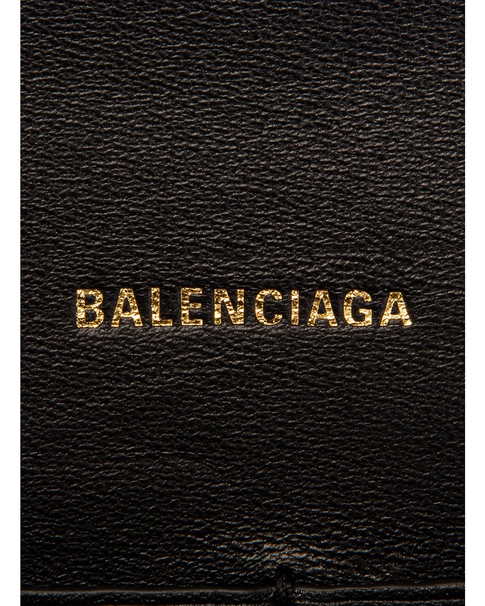 Image 7 of Balenciaga B Embossed Croc Continental Chain Bag in Black