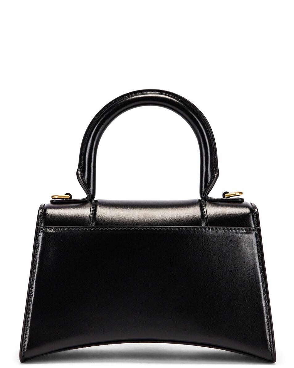 Image 3 of Balenciaga XS Hourglass Top Handle Bag in Black