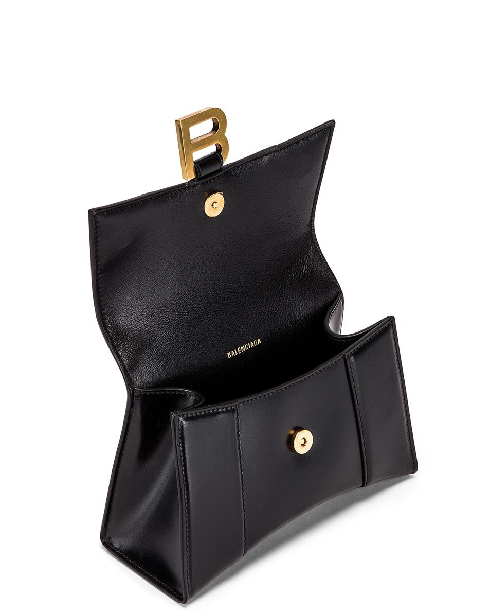 Image 5 of Balenciaga XS Hourglass Top Handle Bag in Black