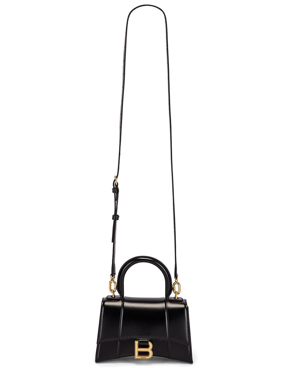 Image 6 of Balenciaga XS Hourglass Top Handle Bag in Black