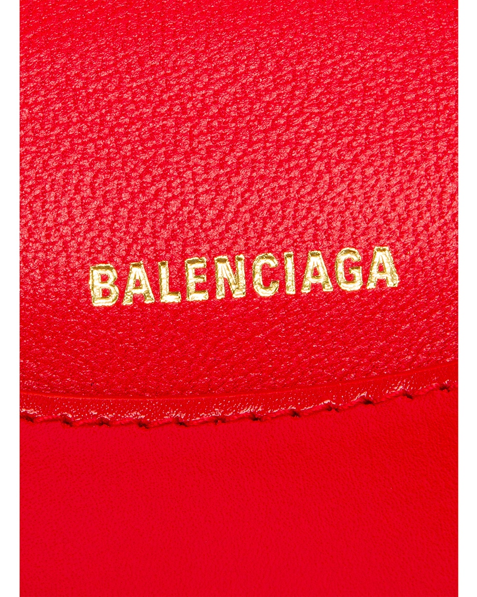 Image 6 of Balenciaga XS Hourglass Top Handle Bag in Bright Red