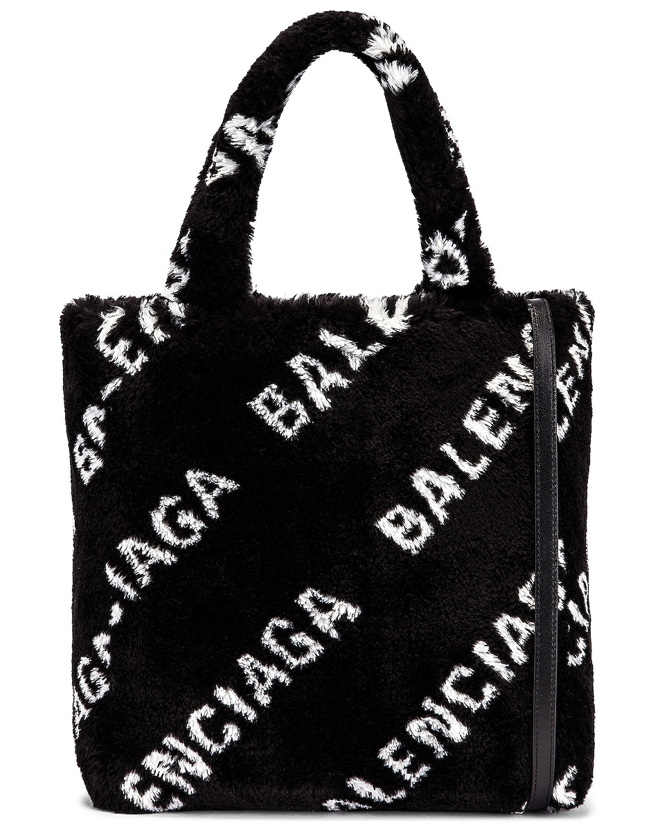 Image 1 of Balenciaga XS Everyday Tote in Black & White
