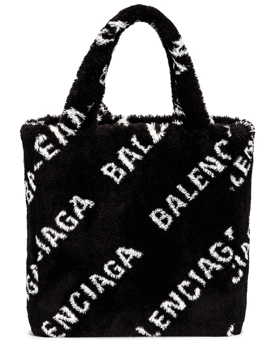 Image 2 of Balenciaga XS Everyday Tote in Black & White