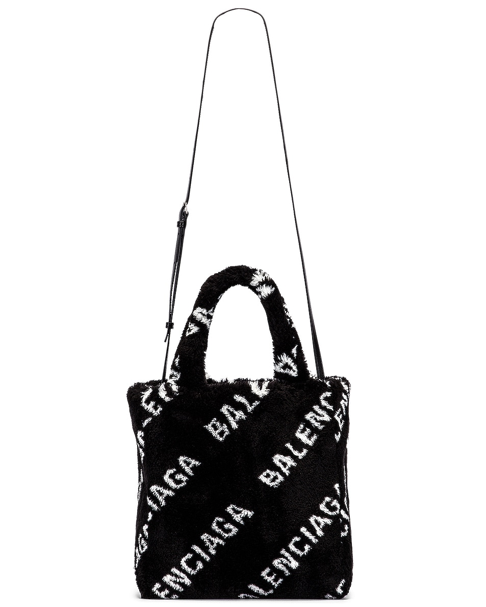 Image 5 of Balenciaga XS Everyday Tote in Black & White