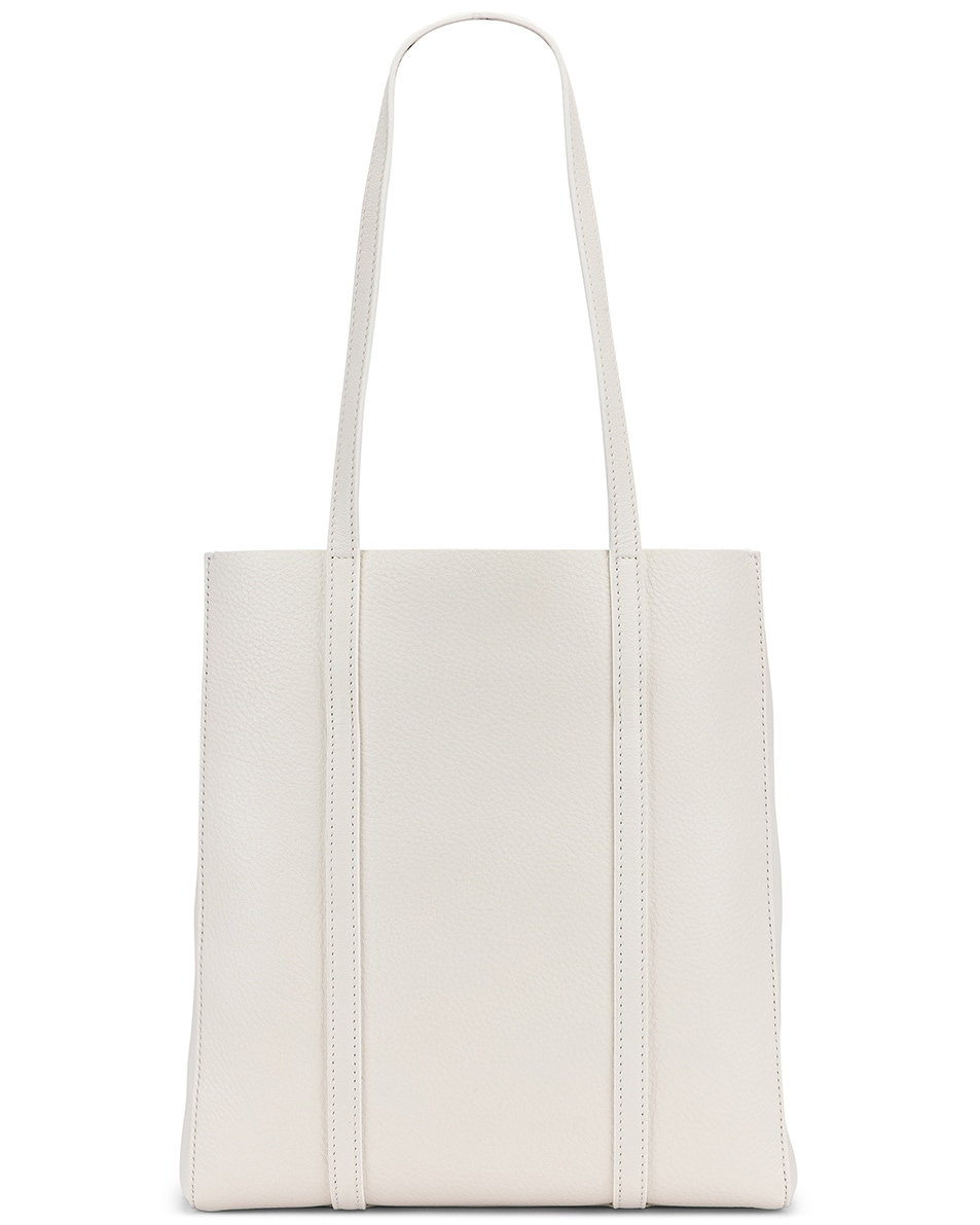Image 3 of Balenciaga XS Everyday Tote Bag in White & Black