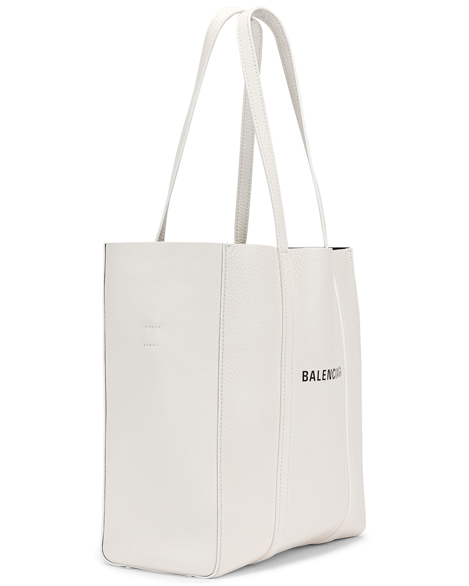 Image 4 of Balenciaga XS Everyday Tote Bag in White & Black