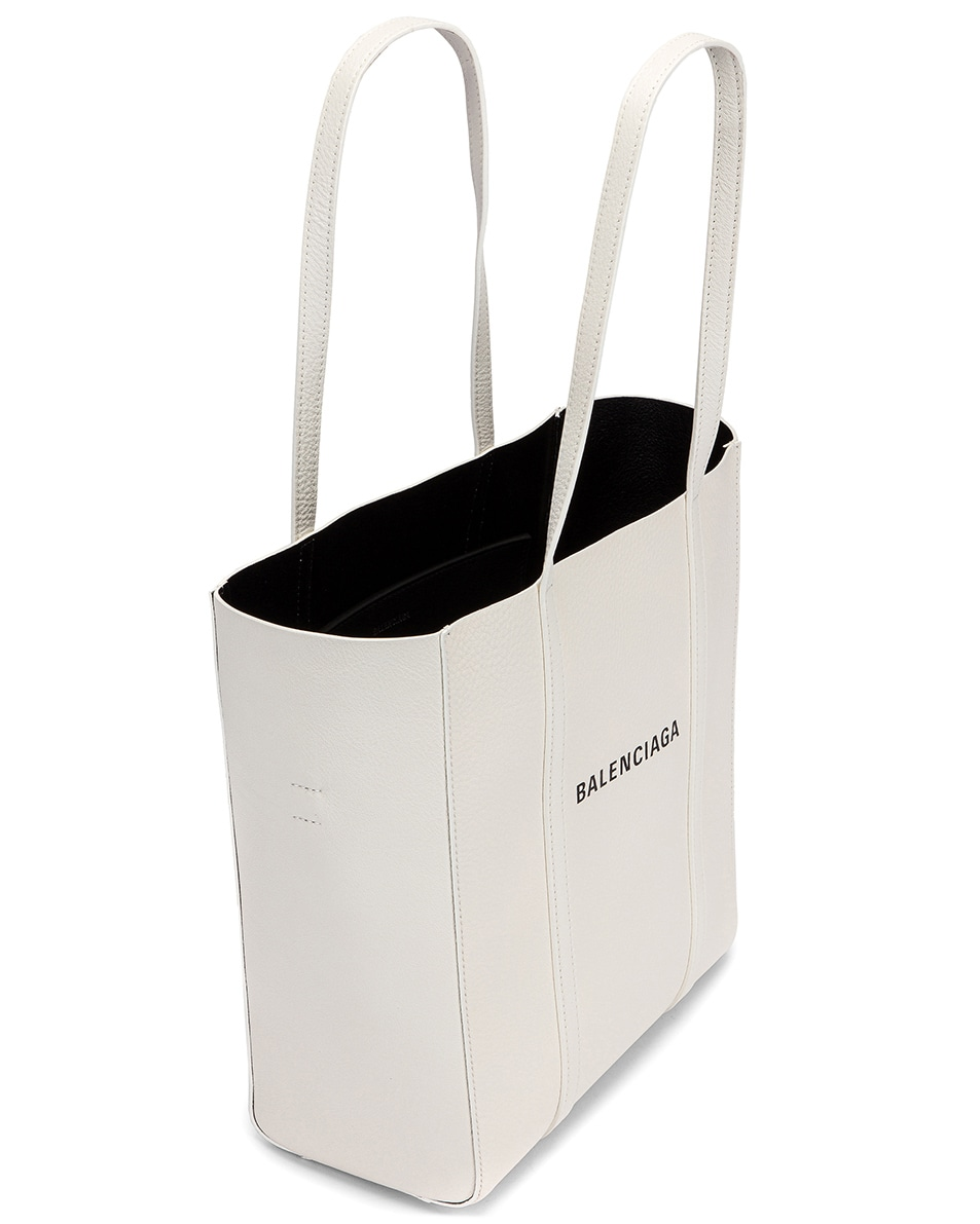 Image 5 of Balenciaga XS Everyday Tote Bag in White & Black
