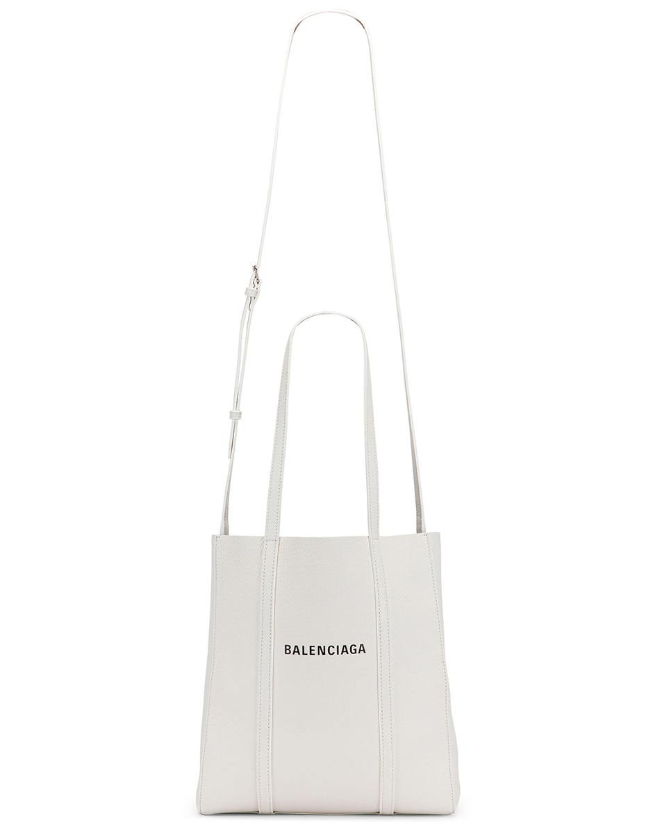 Image 6 of Balenciaga XS Everyday Tote Bag in White & Black