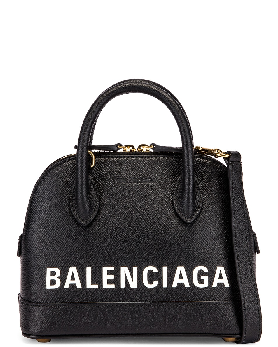 Image 1 of Balenciaga XXS Ville Top Handle Bag in Black & White