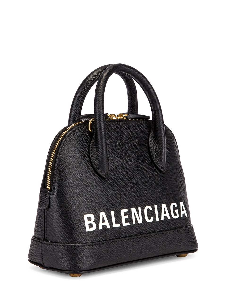 Image 4 of Balenciaga XXS Ville Top Handle Bag in Black & White
