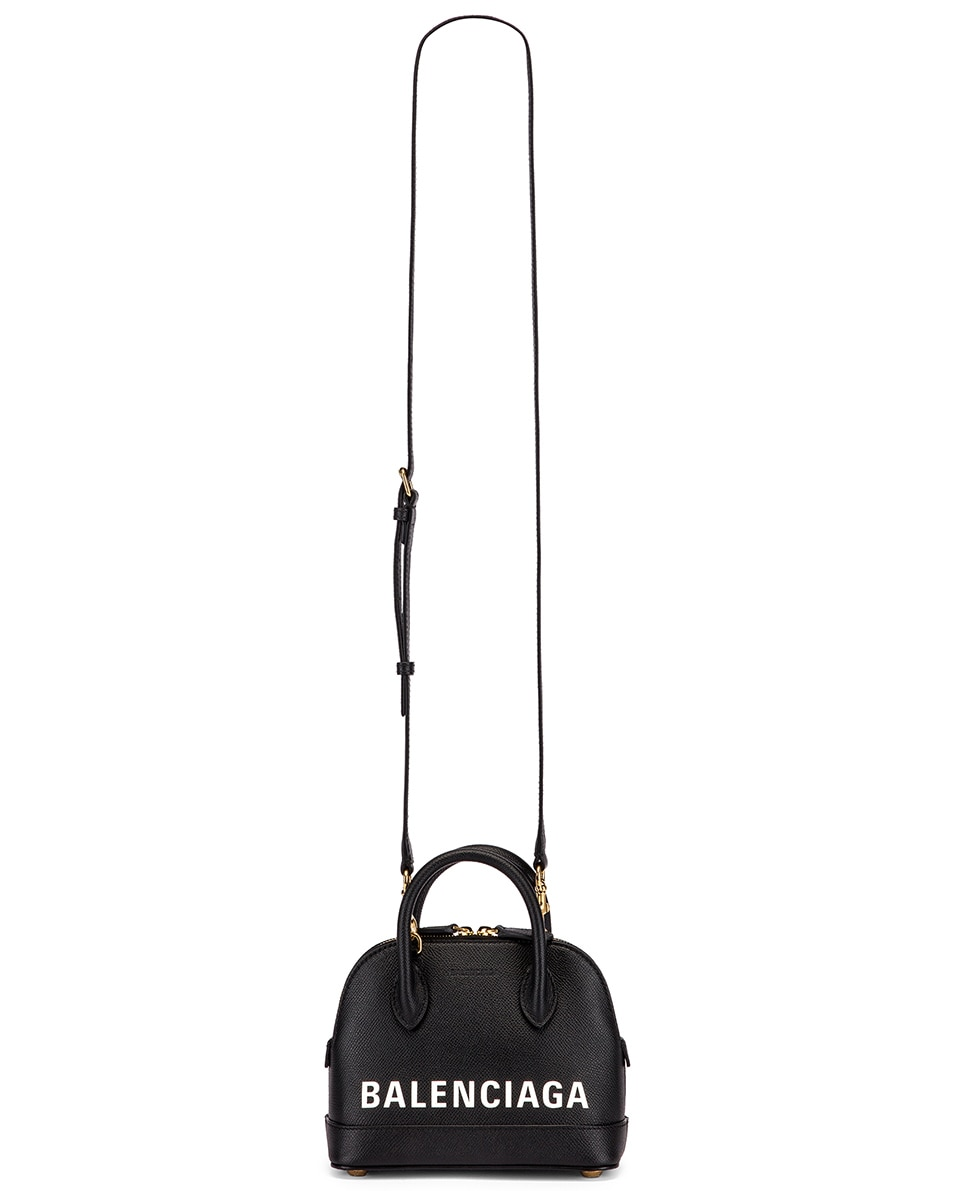 Image 6 of Balenciaga XXS Ville Top Handle Bag in Black & White