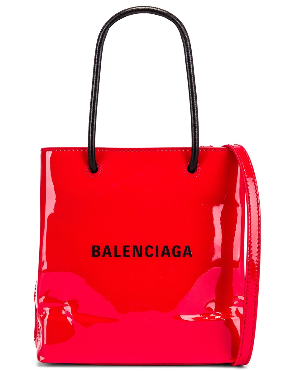 Image 1 of Balenciaga XXS Shopping Tote Bag in Bright Red