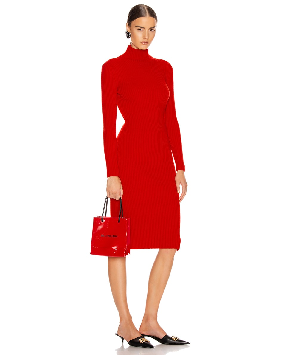 Image 2 of Balenciaga XXS Shopping Tote Bag in Bright Red
