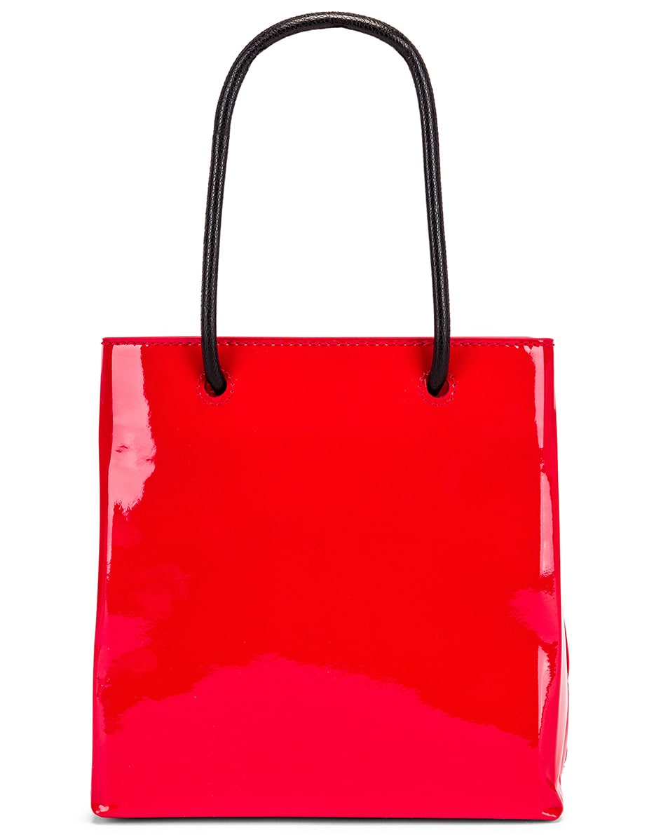 Image 3 of Balenciaga XXS Shopping Tote Bag in Bright Red