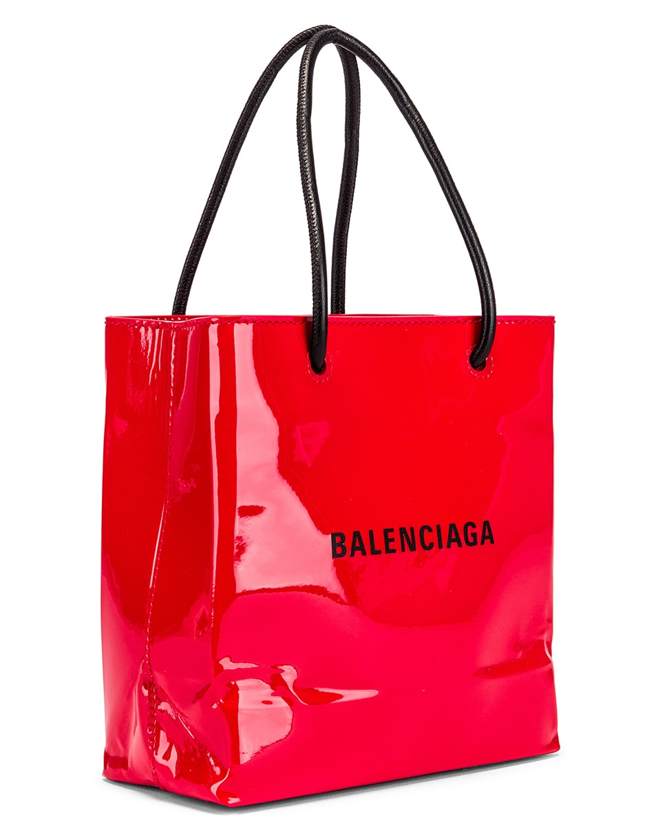 Image 4 of Balenciaga XXS Shopping Tote Bag in Bright Red