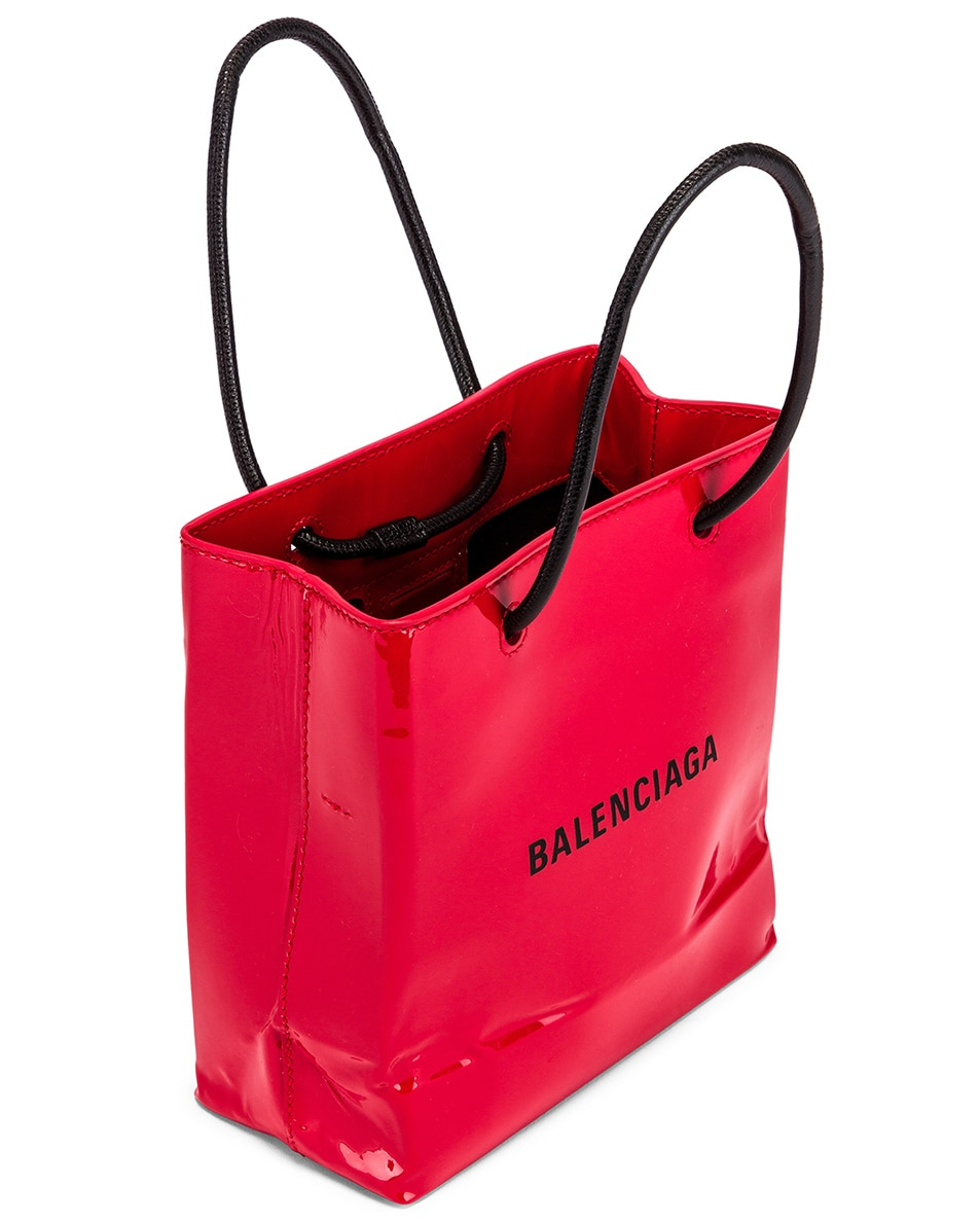 Image 5 of Balenciaga XXS Shopping Tote Bag in Bright Red