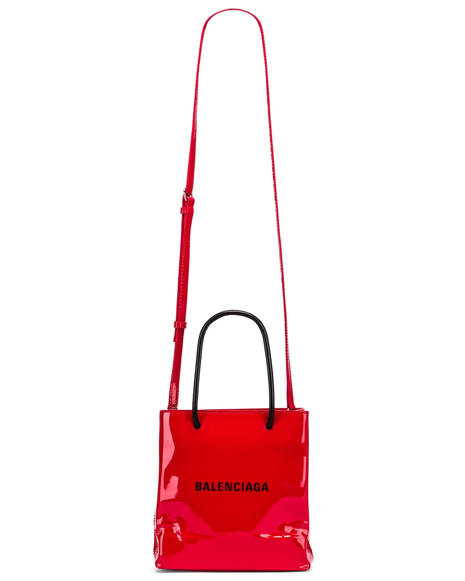 Image 6 of Balenciaga XXS Shopping Tote Bag in Bright Red