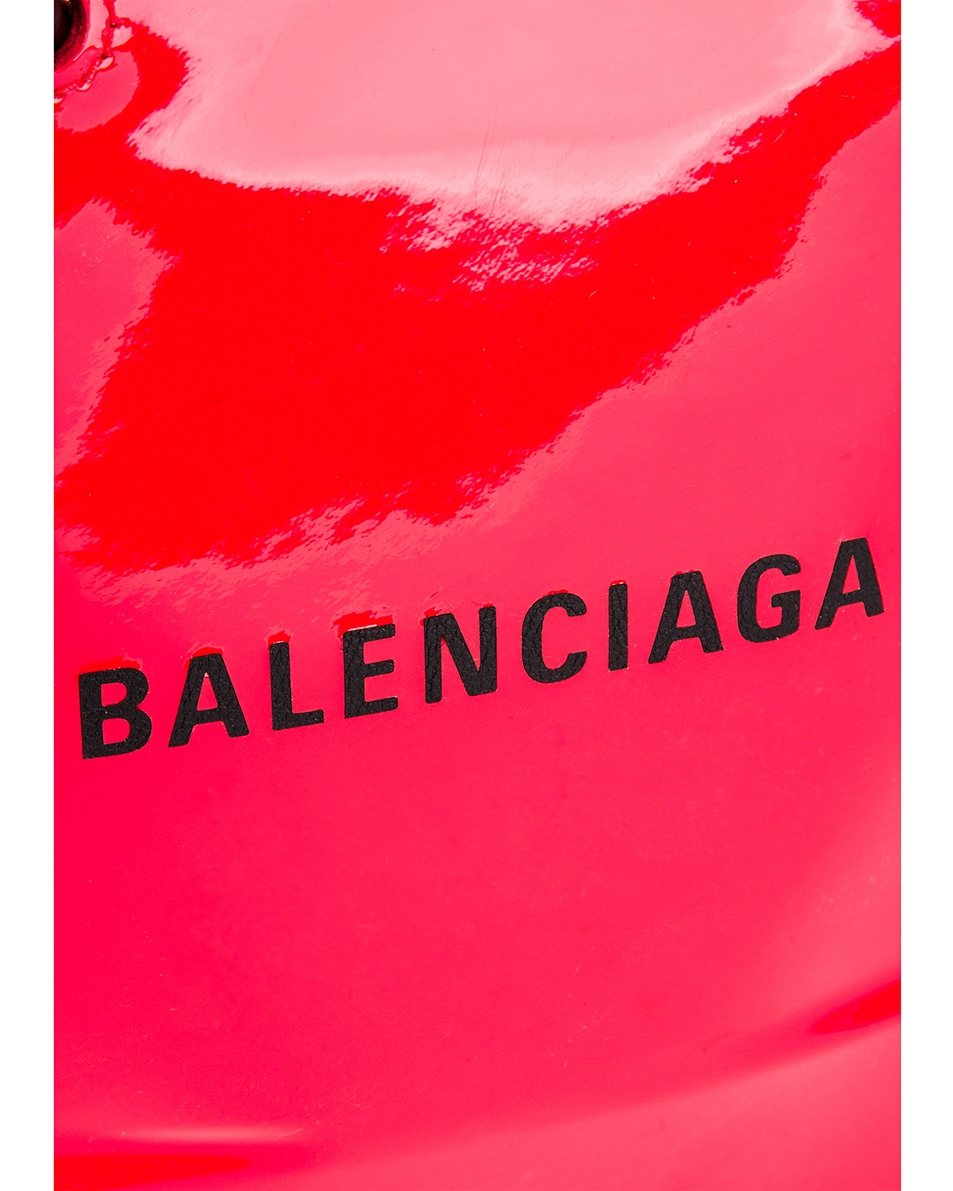 Image 8 of Balenciaga XXS Shopping Tote Bag in Bright Red