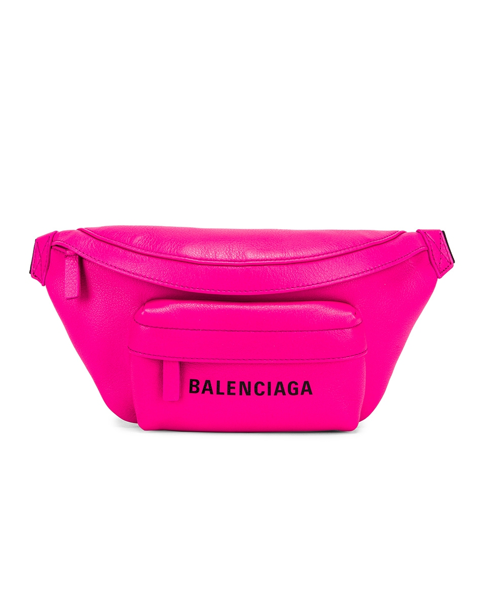Image 1 of Balenciaga XS Everyday Belt Bag in Acid Fuchsia & Black