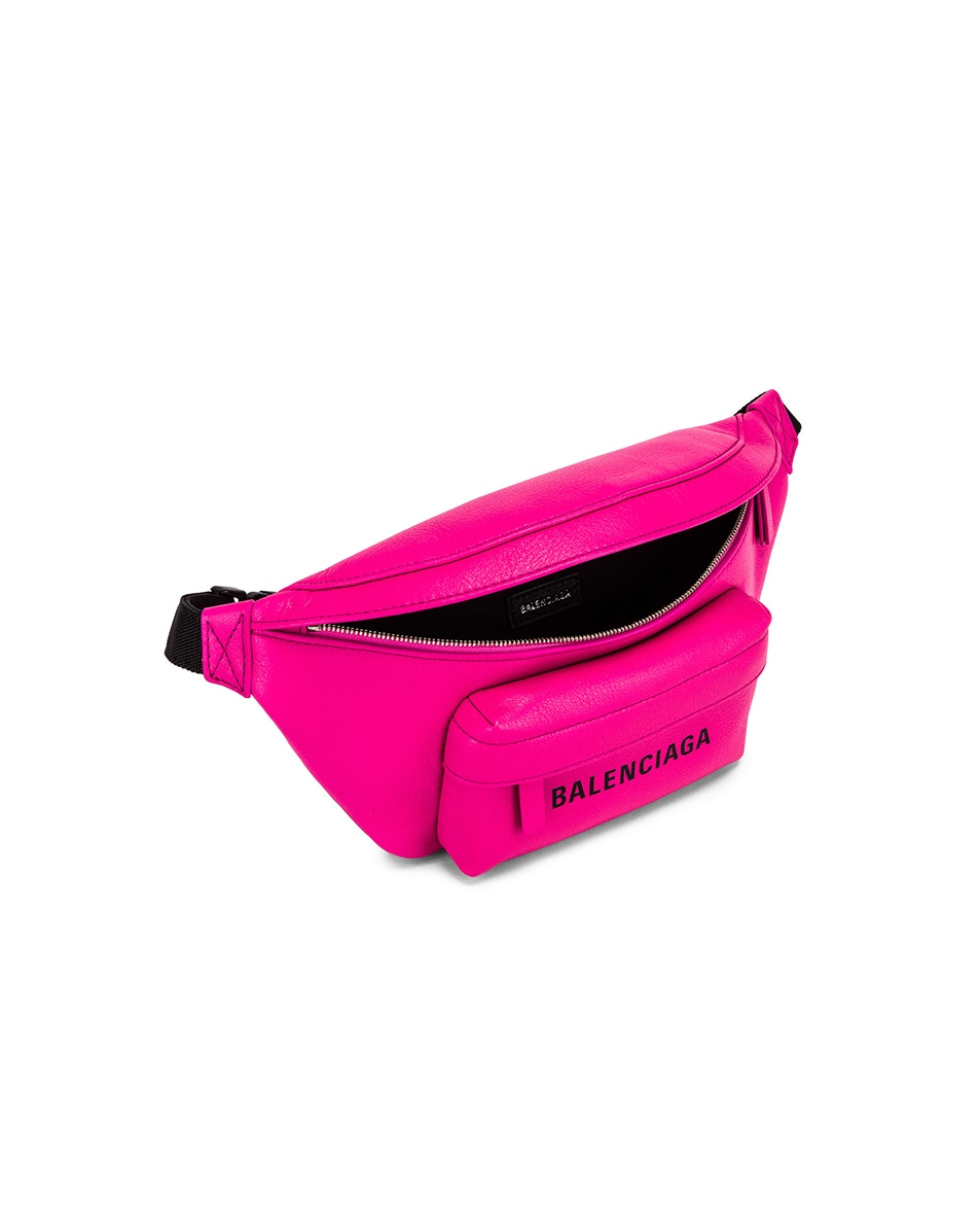 Image 5 of Balenciaga XS Everyday Belt Bag in Acid Fuchsia & Black
